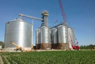 Construction at a grain facility